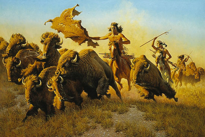 SPLITTING THE HERD, by Frank C. McCarthy LIMITED EDITION PRINT