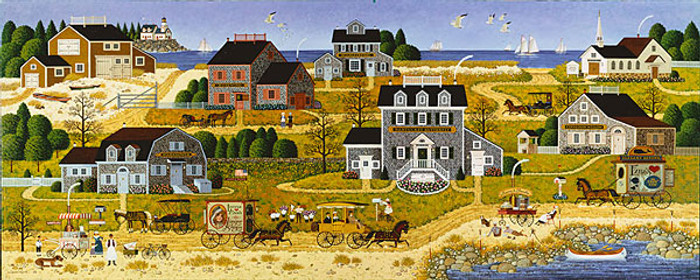Salty Witch Bay, by Charles Wysocki ANNIVERSARY EDITION CANVAS
