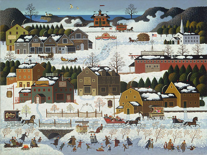 Hickoryhaven Canal, by Charles Wysocki ANNIVERSARY EDITION CANVAS