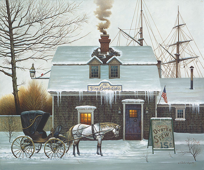 Belly Warmers, by Charles Wysocki ANNIVERSARY EDITION CANVAS