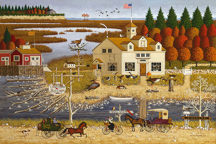 Carver Coggins, by Charles Wysocki ANNIVERSARY EDITION CANVAS