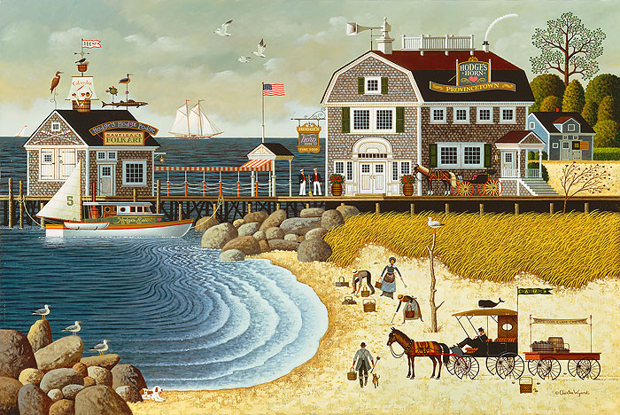 Clammers at Hodge´s Horn, by Charles Wysocki ANNIVERSARY EDITION CANVAS
