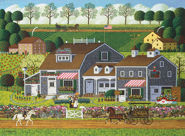 Prairie Wind Flowers, by Charles Wysocki ANNIVERSARY EDITION CANVAS