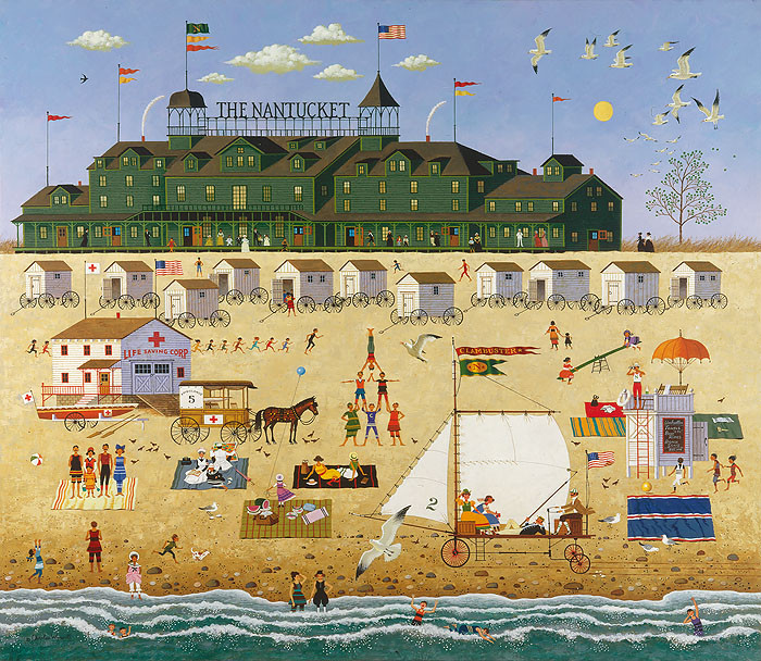 The Nantucket, by Charles Wysocki ANNIVERSARY EDITION CANVAS