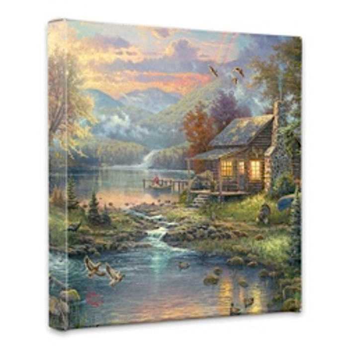 Natures Paradise by Thomas Kinkade 14 x 14 gallery wrap canvas