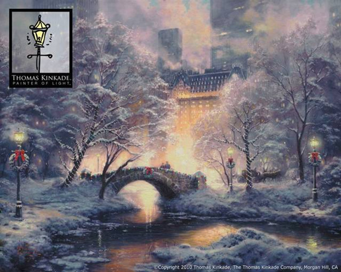Holiday at Central Park by Thomas Kinkade