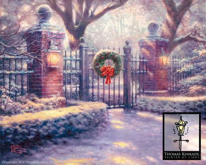 Christmas Gate by Thomas Kinkade