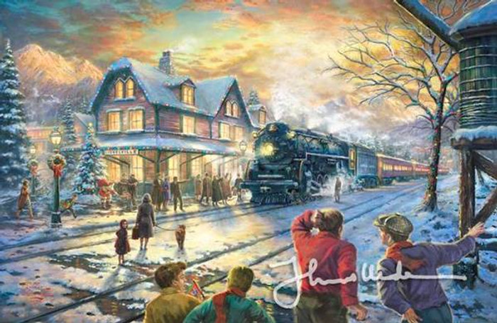 All Aboard For Christmas by Thomas Kinkade - Framed