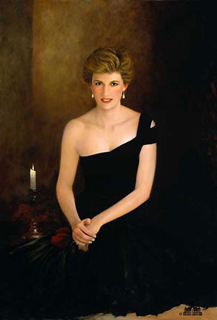 A Tribute, Princess Diana, Jeff Barson canvas limited edition