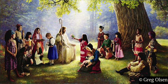 Children of the World Greg Olsen Canvas Limited Edition