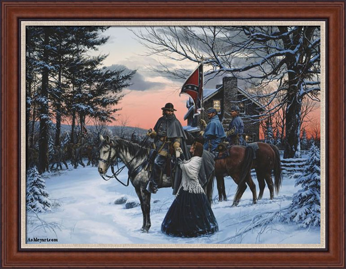 The Parting John Paul Strain Classic Giclee Canvas Framed