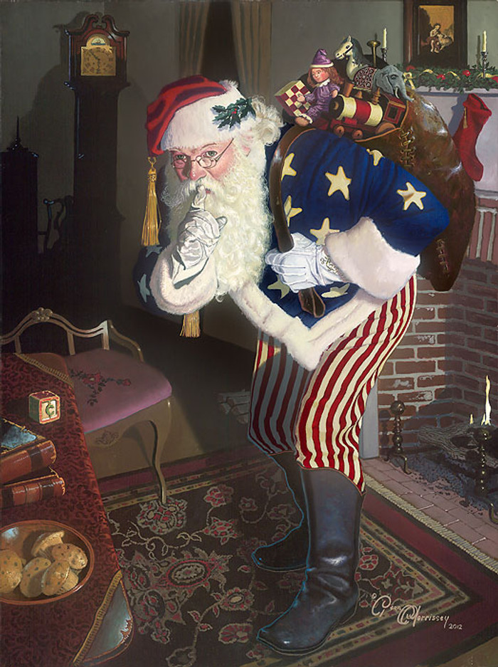 Patriotic Santa Clause