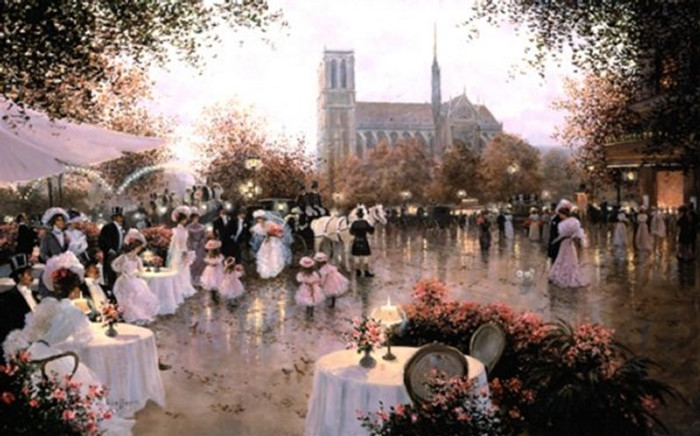 A Wedding Party-Notre Dame, Paris by Christa Kieffer