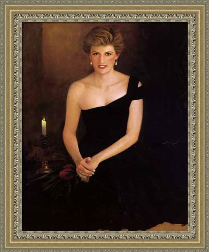 A Tribute, Princess Diana, Jeff Barson canvas framed