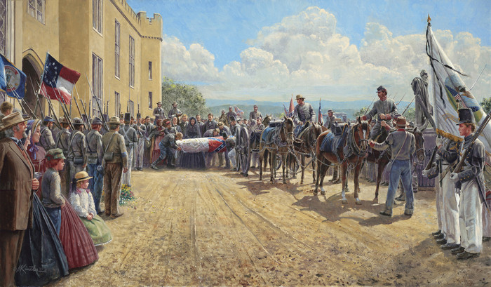 Last Tribute of Respect by Mort Kunstler - Canvas