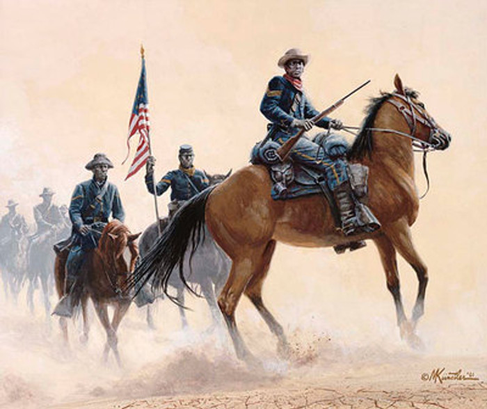 Buffalo Soldiers of the West Giclee Canvas by Mort Kunstler