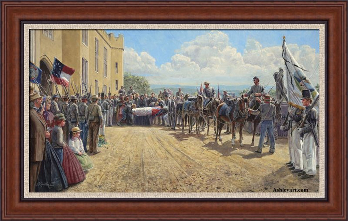 Last Tribute of Respect, Mort Kunstler - Signature Canvas Framed