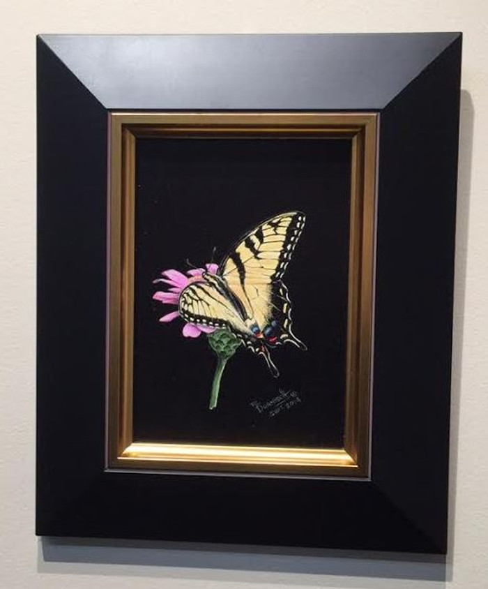 painting of Tiger Swallowtail butterfly