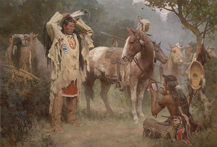 Preparing for the Confrontation LIMITED EDITION CANVAS by Z.S.  Liang