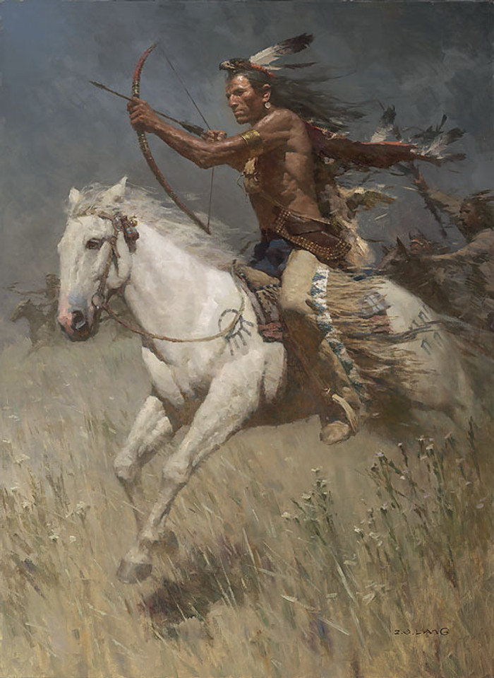 Charging the Enemy LIMITED EDITION CANVAS by Z.S.  Liang