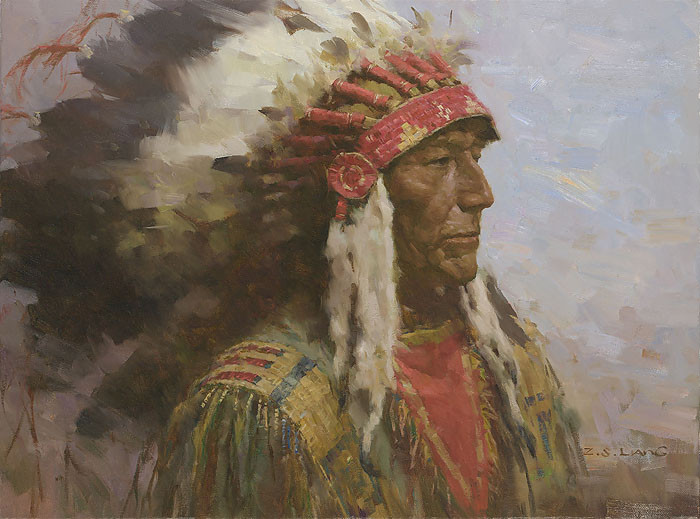 Brule Warrior LIMITED EDITION CANVAS by Z.S.  Liang