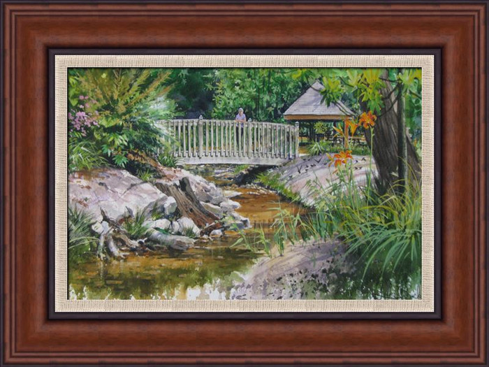 Fuquay Mineral Springs framed print on canvas