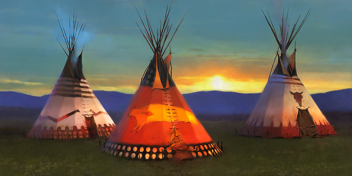 Blackfeet Country by R. Tom Gilleon MUSEUM EDITION CANVAS