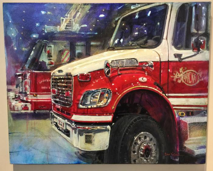 Raleigh Firetruck painting