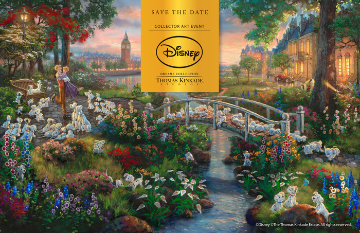 Disney's 101 Dalmatians by Thomas Kinkade Studio
