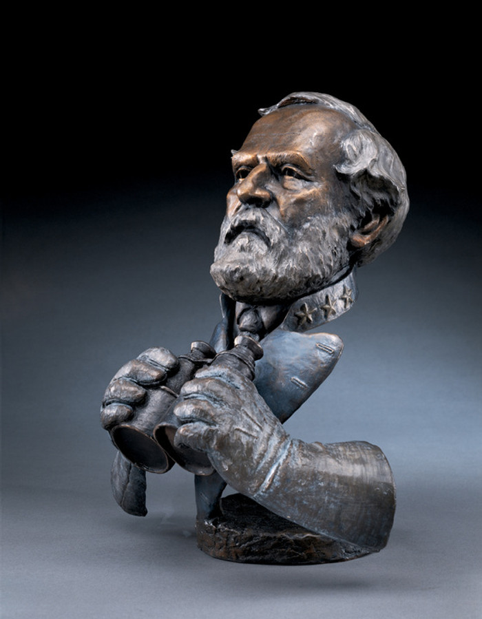 Robert E. Lee with binoculars