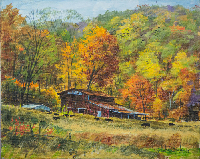 Green Valley Farm painting