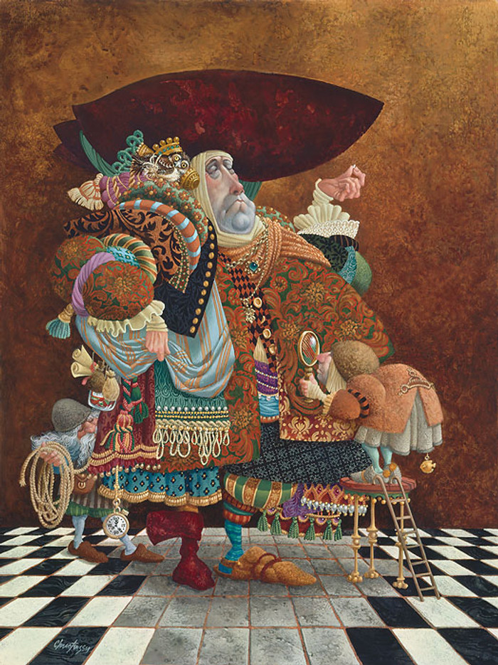 A Lawyer More than Adequately Attired in Fine Print, James Christensen ANNIVERSARY EDITION CANVAS