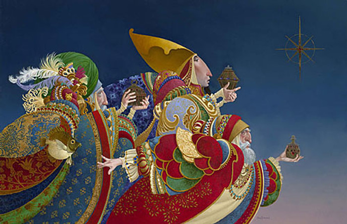 WE THREE KINGS..., James Christensen LIMITED EDITION CANVAS