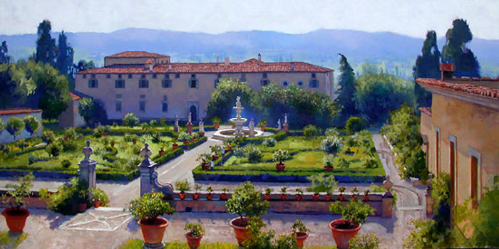 Villa di Castello, June Carey  LIMITED EDITION CANVAS