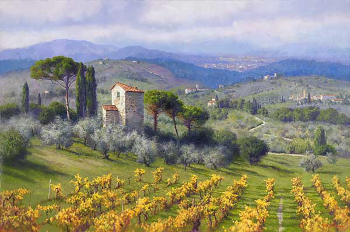 Above Florence, June Carey  LIMITED EDITION CANVAS