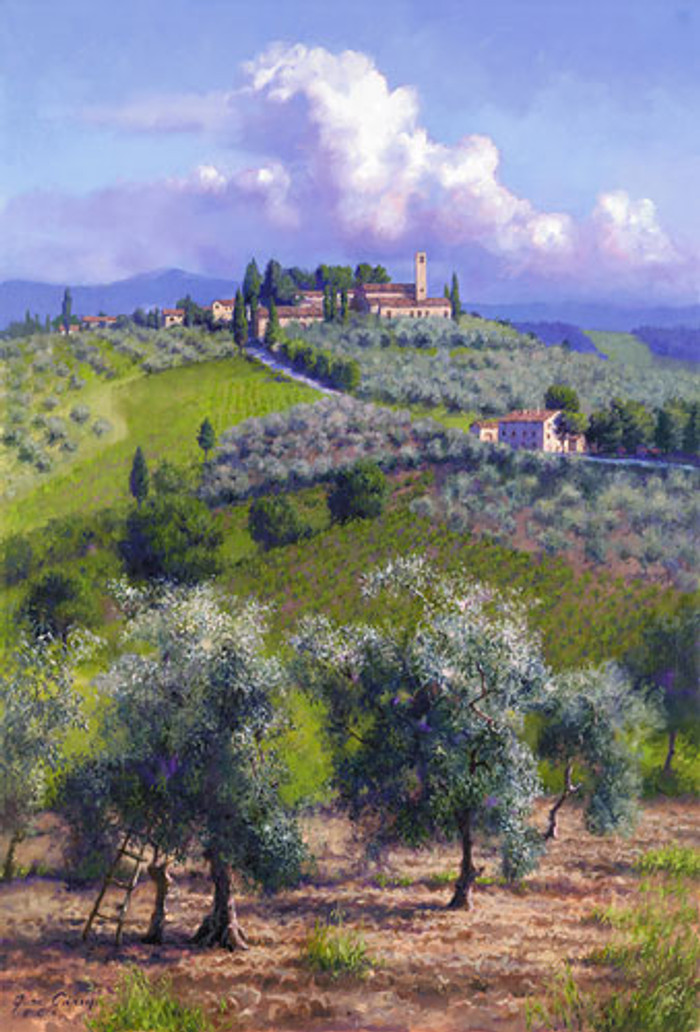 Oil Trees of Chianti, June Carey  LIMITED EDITION CANVAS