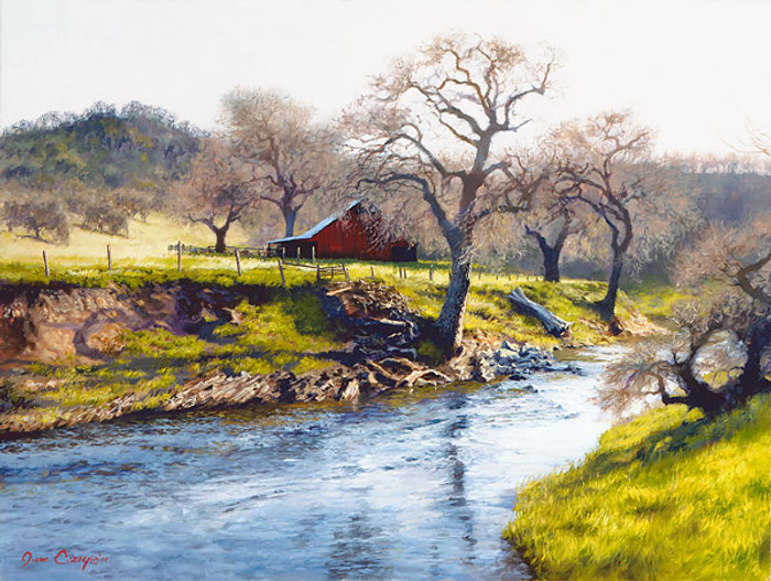 Early Spring at Stony Creek, June Carey  LIMITED EDITION CANVAS