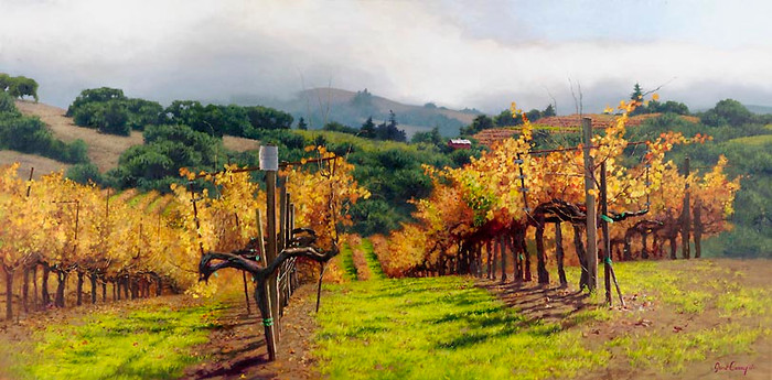 FALL VINEYARD, June Carey  LIMITED EDITION PRINT