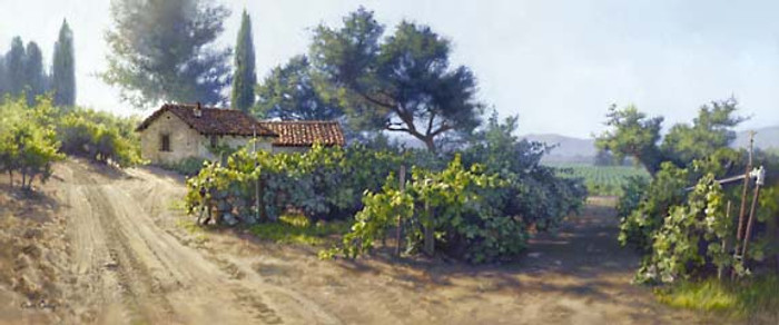 MONTEREY VINEYARD, June Carey  LIMITED EDITION PRINT