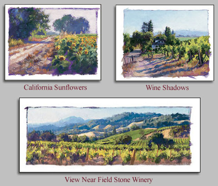 Studies of...Wine Country California, June Carey  LIMITED EDITION PRINT