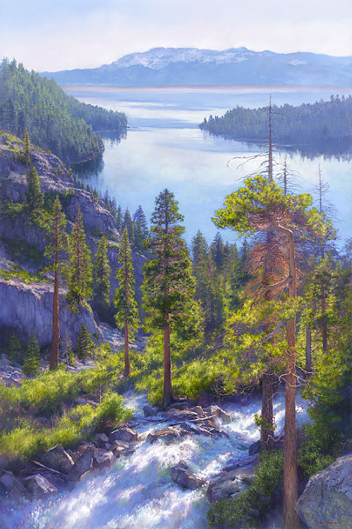 Cascade of Light, Emerald Bay, Lake Tahoe, June Carey  LIMITED EDITION CANVAS