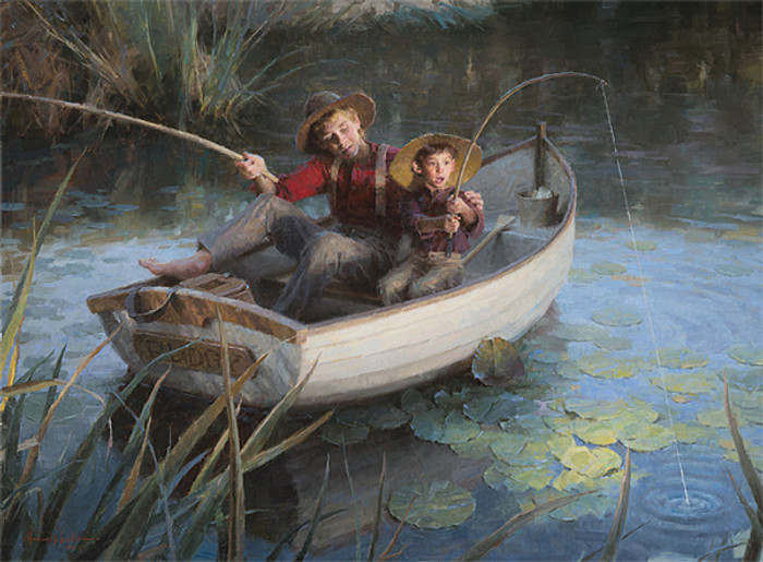 The Fishing Hole, Morgan Weistling LIMITED EDITION CANVAS