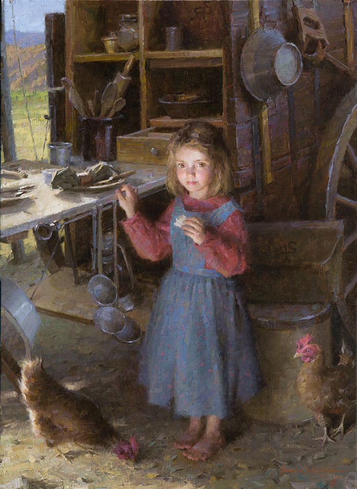 The Chef's Daughter - Chuck Wagon 1892, Morgan Weistling LIMITED EDITION CANVAS