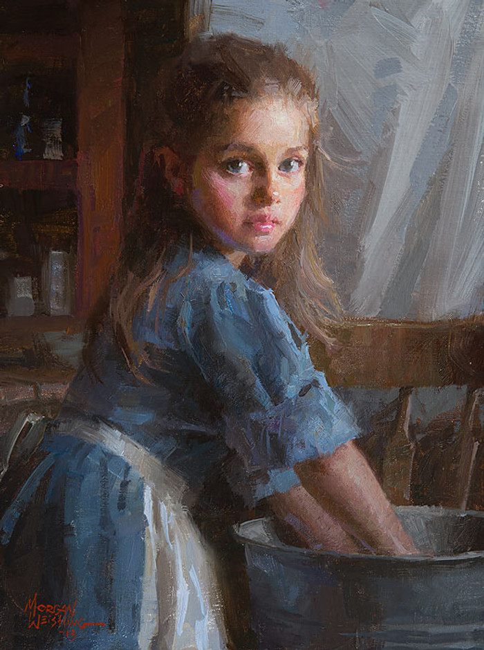 Laundry Girl, Morgan Weistling SMALLWORK CANVAS EDITION