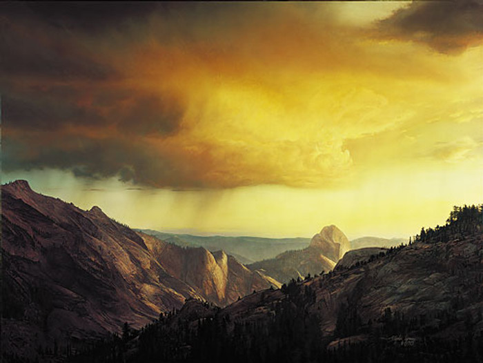 STORM OVER TENAYA CANYON, Stephen Lyman LIMITED EDITION CANVAS