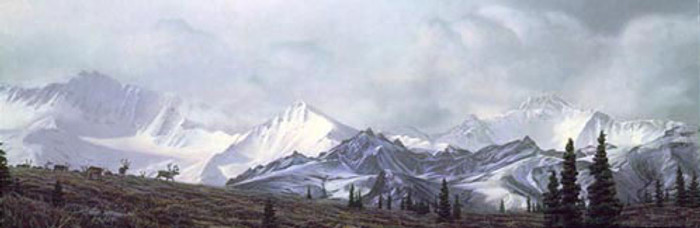 IN THE HEART OF ALASKA, Stephen Lyman LIMITED EDITION PRINT