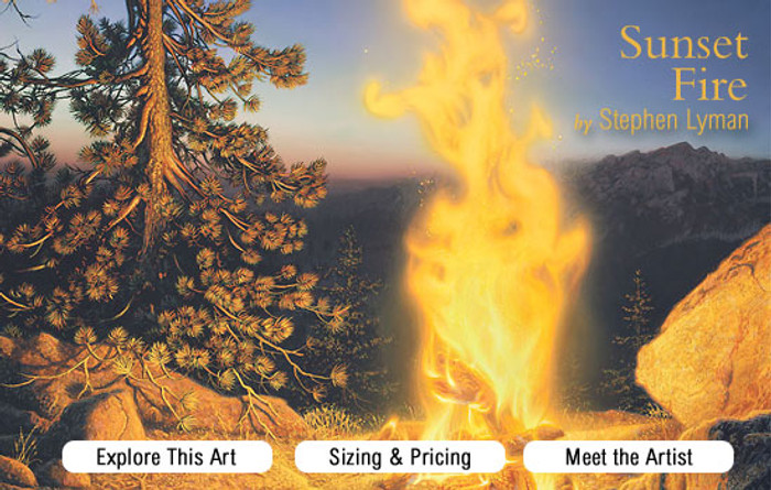 Sunset Fire, Stephen Lyman ANNIVERSARY MASTERWORK Giclee canvas