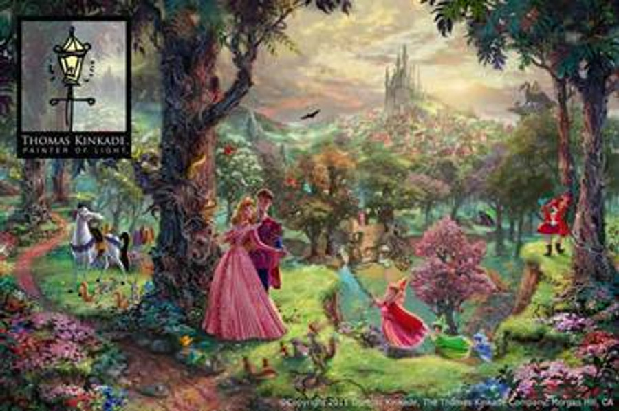 Sleeping Beauty, Thomas Kinkade 18x27 canvas framed