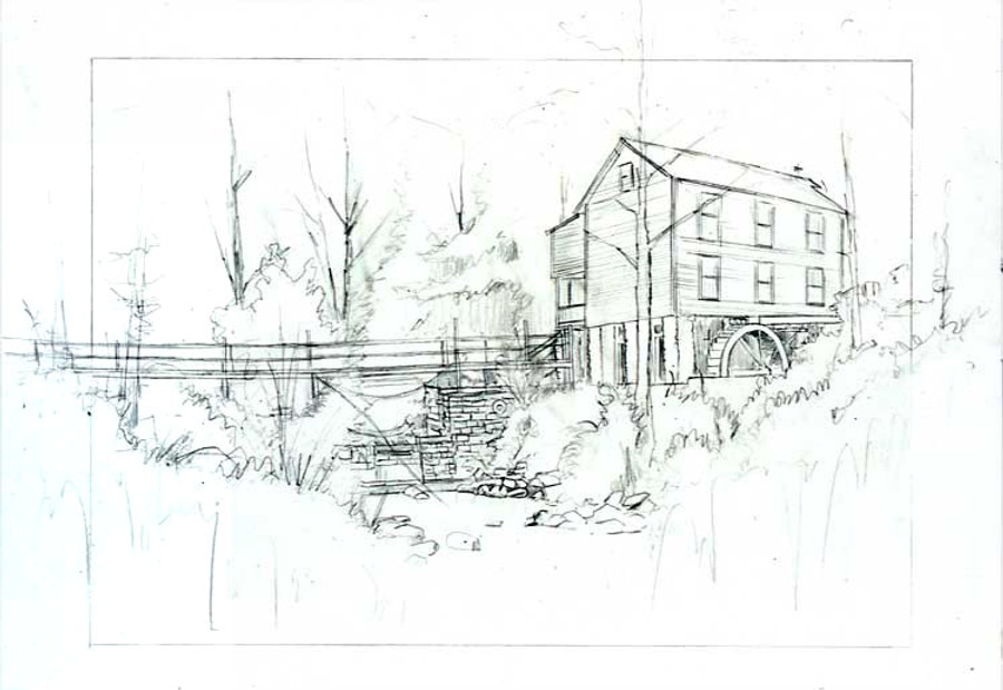 Old Gillian Mill layout drawing
