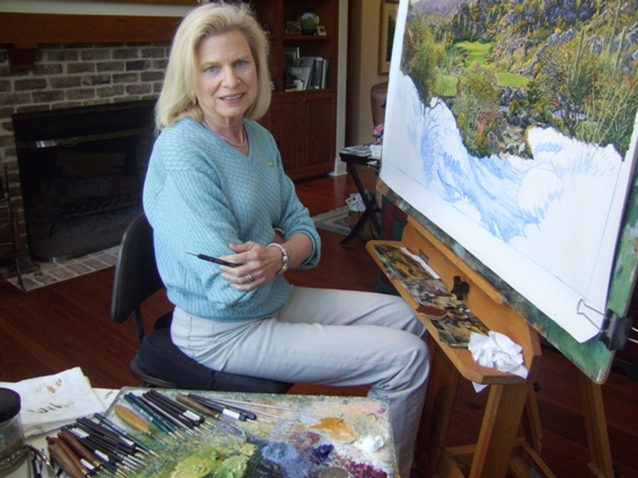 Linda Hartough in her studio